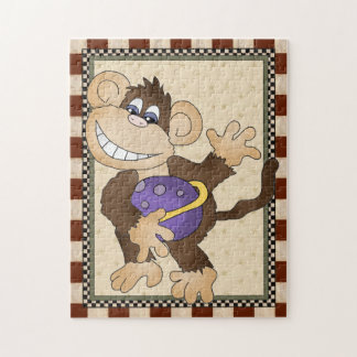 Cartoon Space Monkey kids puzzle