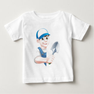 Cartoon Spade Gardener Baby T-Shirt