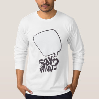 Cartoon speech bubble shirt WHITE