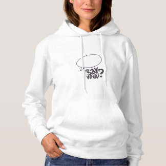 Cartoon speech bubble sweat shirt WHITE
