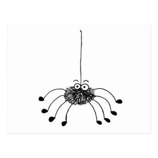 Cartoon Spider Postcard