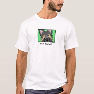 Cartoon Square Shiloh Shepherd T-Shirt