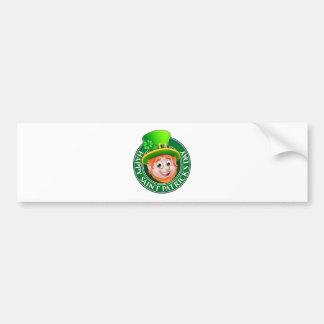 Cartoon St Patricks Day Leprechaun Sign Bumper Sticker