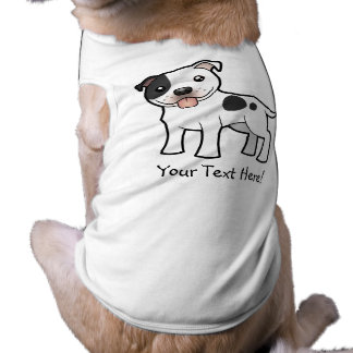 Cartoon Staffordshire Bull Terrier Pet T Shirt
