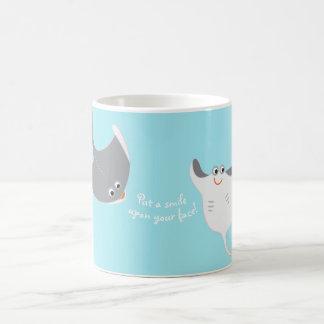 Cartoon Stingrays Coffee Mug