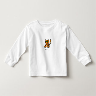 Cartoon Striped Kitten Shirt