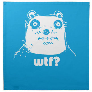 cartoon style blue bear cloth napkins
