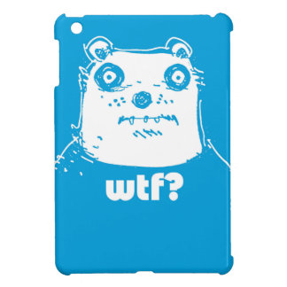 cartoon style blue bear iPad mini cases