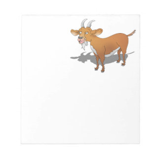 Cartoon style brown goat notepad