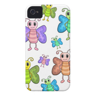 Cartoon style butterflies iPhone 4 covers