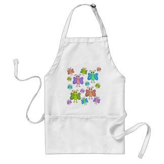 Cartoon style butterflies standard apron