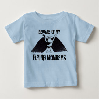 Cartoon style cute flying monkeys for baby baby T-Shirt