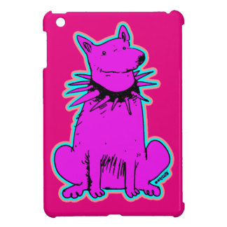 cartoon style dog pure purple iPad mini cover