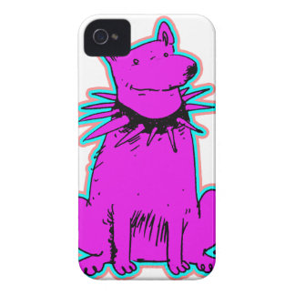 cartoon style dog pure purple iPhone 4 case