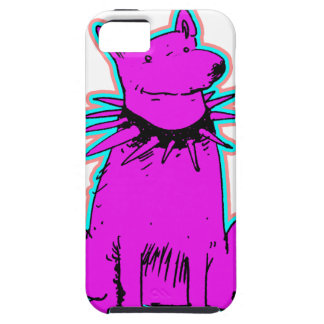 cartoon style dog pure purple iPhone 5 cover