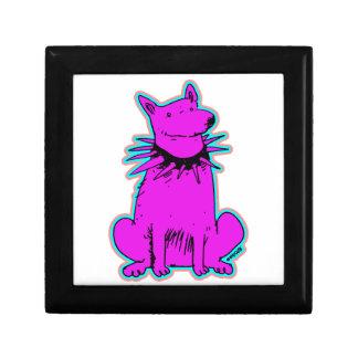 cartoon style dog pure purple trinket box