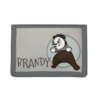 CARTOON STYLE GRIZZLY BEAR MIME TRI-FOLD WALLET
