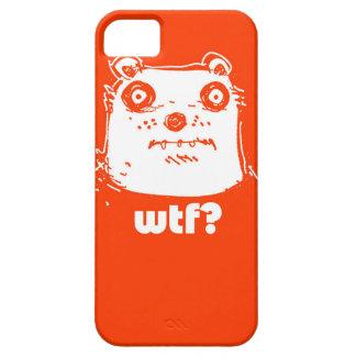 cartoon style illustration orange bear case for the iPhone 5