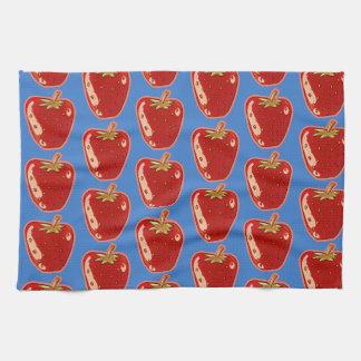 cartoon style strawberry illustration towel