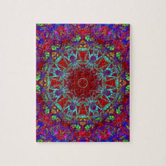 Cartoon Style Warm And Friendly Mandala Jigsaw Puzzle