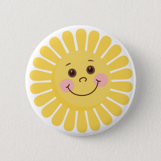 Cartoon Sun 2 Inch Round Button