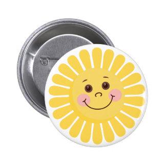 Cartoon Sun 2 Inch Round Button
