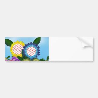 Cartoon Sunflowers Dual Photo Frame Bumper Stickers