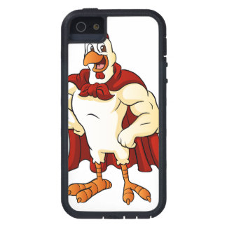 Cartoon super rooster posing iPhone 5 covers