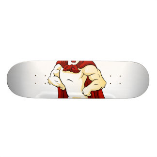 Cartoon super rooster posing skateboard decks