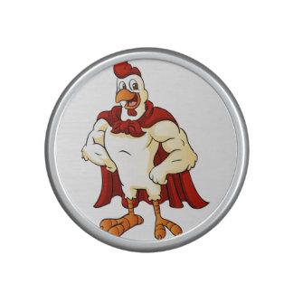 Cartoon super rooster posing speaker