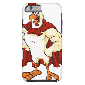 Cartoon super rooster posing tough iPhone 6 case