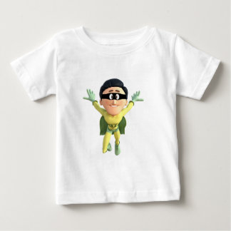 Cartoon Super Toonman in Lime and Green Baby T-Shirt