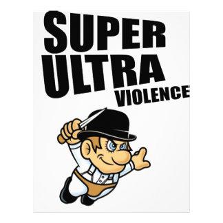 cartoon super Ultra violence Letterhead Design