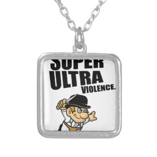 cartoon super Ultra violence Silver Plated Necklace