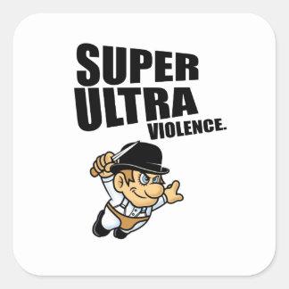 cartoon super Ultra violence Square Sticker
