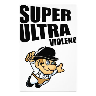cartoon super Ultra violence Stationery