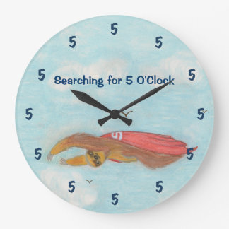 Cartoon Supersloth Clock