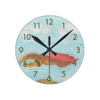 Cartoon Supersloth clock