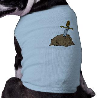 cartoon sword in stone dog t shirt