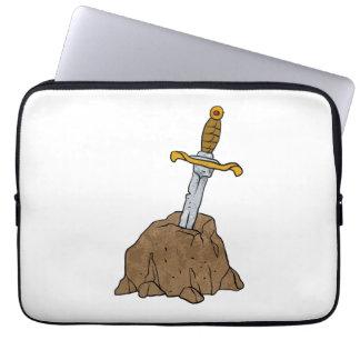 cartoon sword in stone laptop computer sleeves