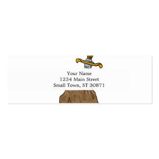 cartoon sword in stone mini business card