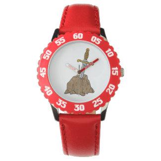 cartoon sword in stone wrist watches