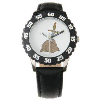 cartoon sword in stone wristwatches