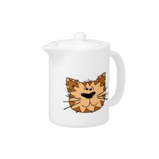 Cartoon Tabby Cat Face
