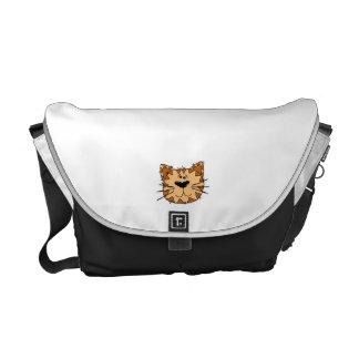 Cartoon Tabby Cat Face Commuter Bag