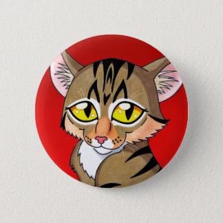 Cartoon Tabby Kitten 2 Inch Round Button