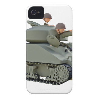 Cartoon Tank and Soldiers at Ease iPhone 4 Case-Mate Cases
