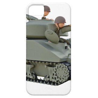 Cartoon Tank and Soldiers at Ease iPhone 5 Case