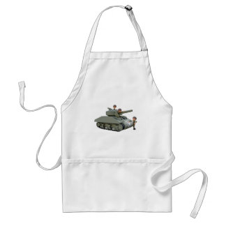 Cartoon Tank and Soldiers at Ease Standard Apron
