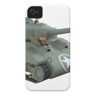 Cartoon Tank and Soldiers Going Forward Case-Mate iPhone 4 Cases